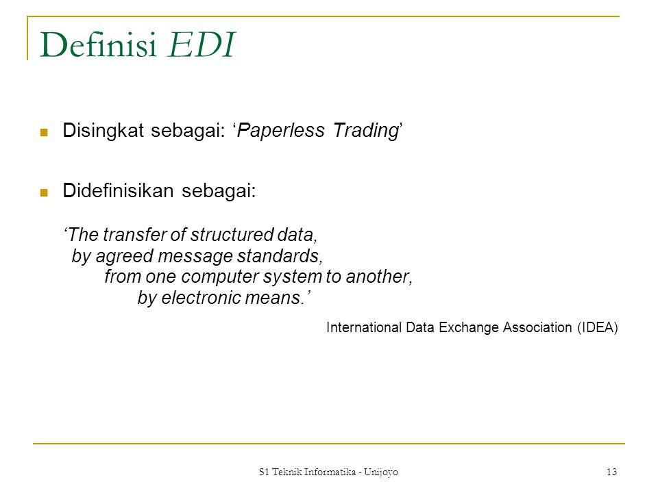 S1 Teknik Informatika - Unijoyo