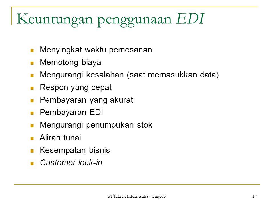 Keuntungan penggunaan EDI