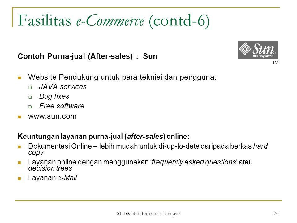 Fasilitas e-Commerce (contd-6)