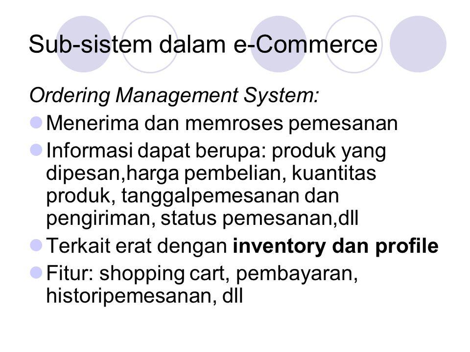 Sub-sistem dalam e-Commerce
