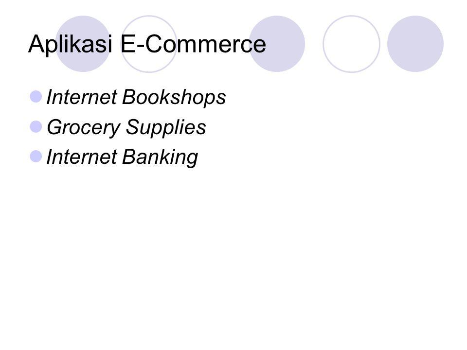 Aplikasi E-Commerce Internet Bookshops Grocery Supplies