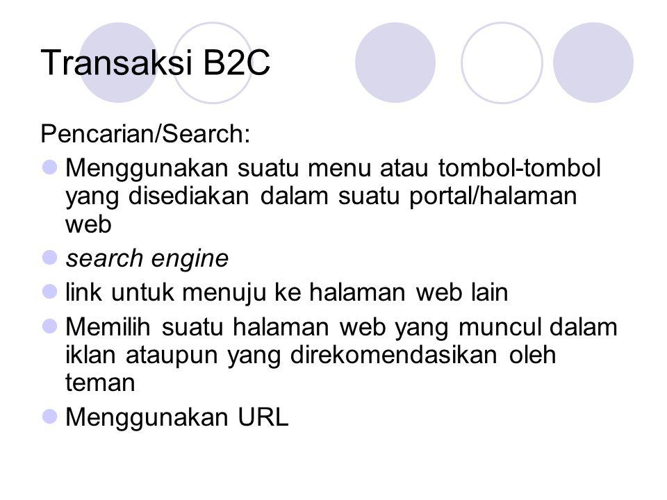 Transaksi B2C Pencarian/Search: