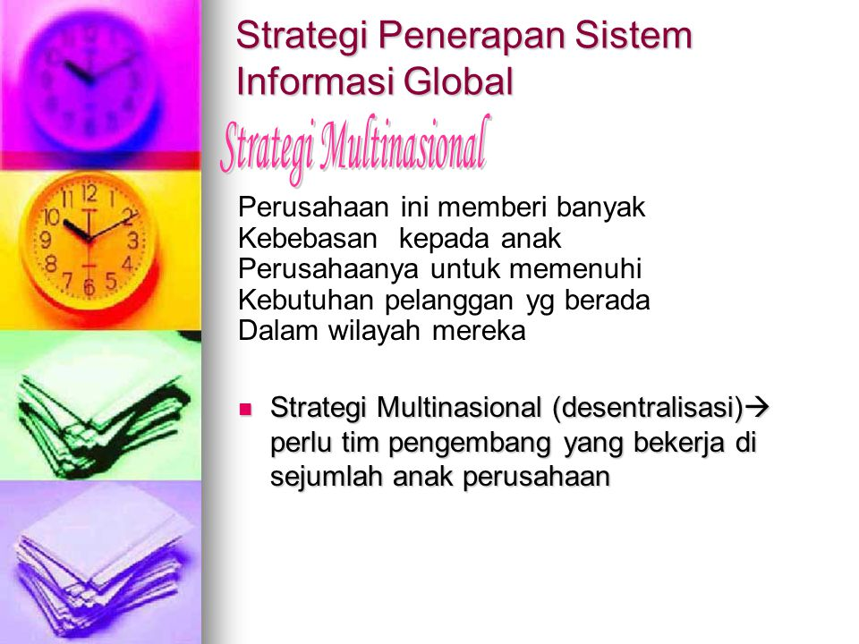 Strategi Penerapan Sistem Informasi Global