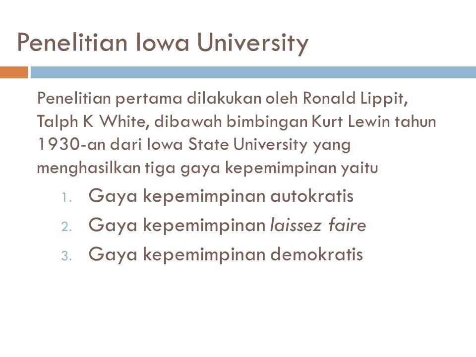 Penelitian Iowa University