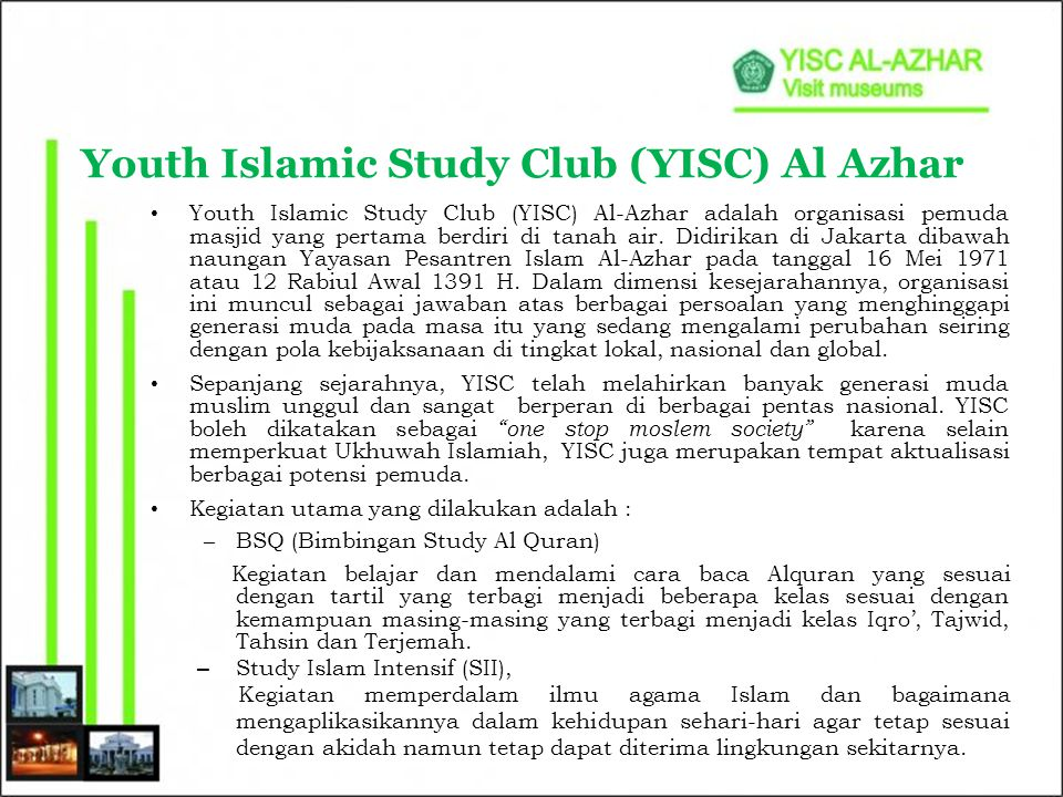 Youth Islamic Study Club (YISC) Al Azhar