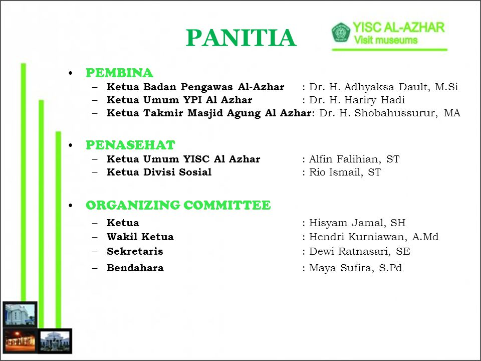 PANITIA PEMBINA PENASEHAT ORGANIZING COMMITTEE