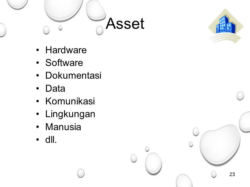 Asset Hardware Software Dokumentasi Data Komunikasi Lingkungan Manusia