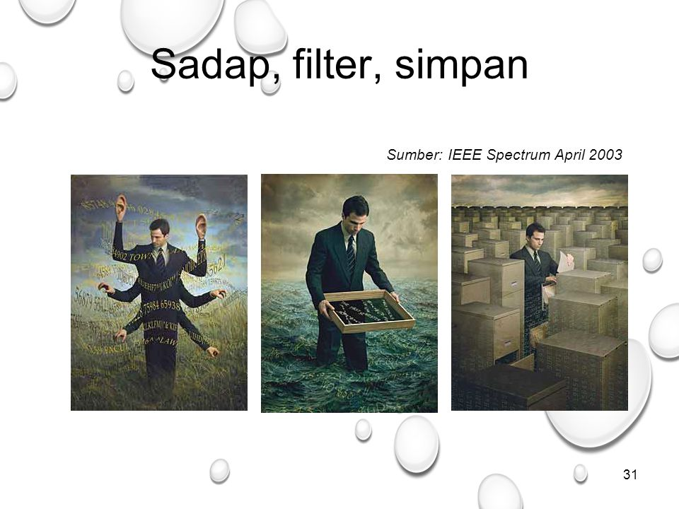 Sadap, filter, simpan Sumber: IEEE Spectrum April 2003