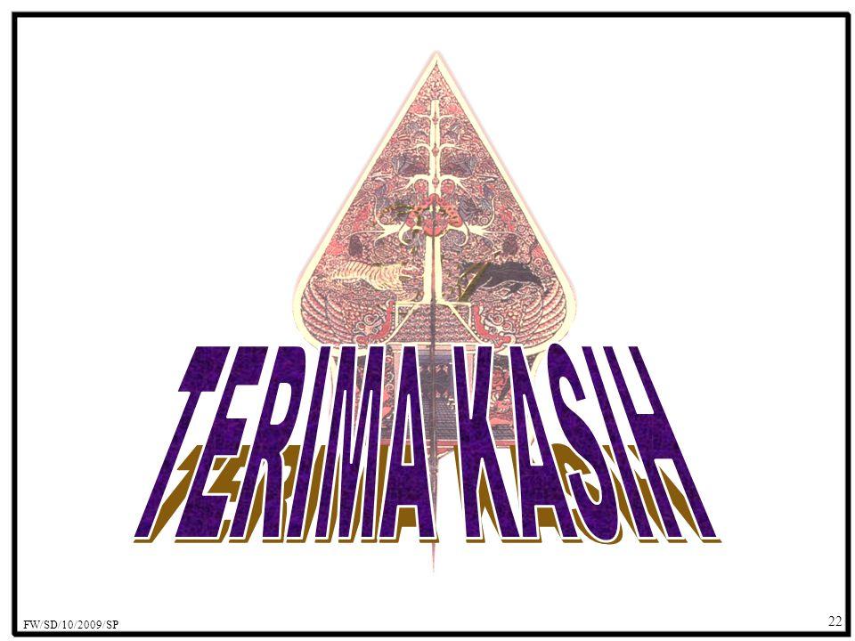 TERIMA KASIH FW/SD/10/2009/SP 22