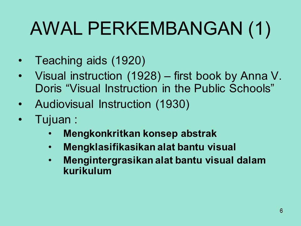 AWAL PERKEMBANGAN (1) Teaching aids (1920)