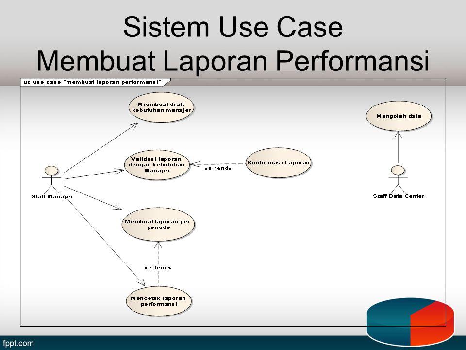 Sistem Use Case Membuat Laporan Performansi