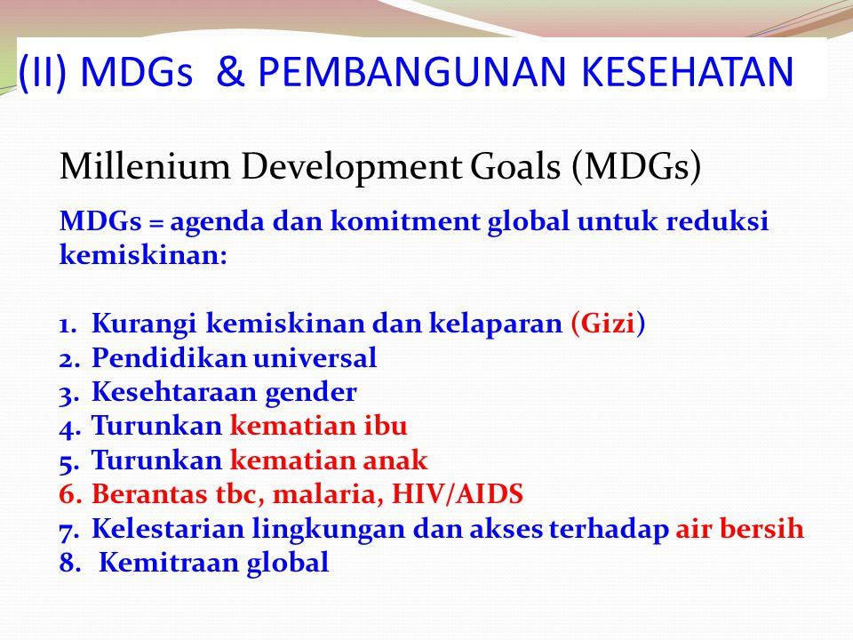 (II) MDGs & PEMBANGUNAN KESEHATAN