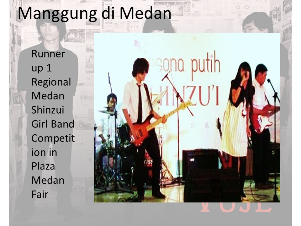 Manggung di Medan Runner up 1 Regional Medan Shinzui Girl Band Competition in Plaza Medan Fair