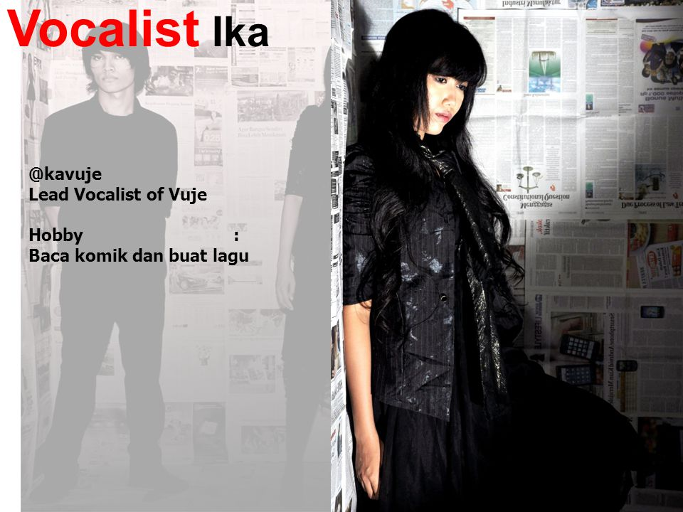 Vocalist Ika @kavuje Lead Vocalist of Vuje Hobby :