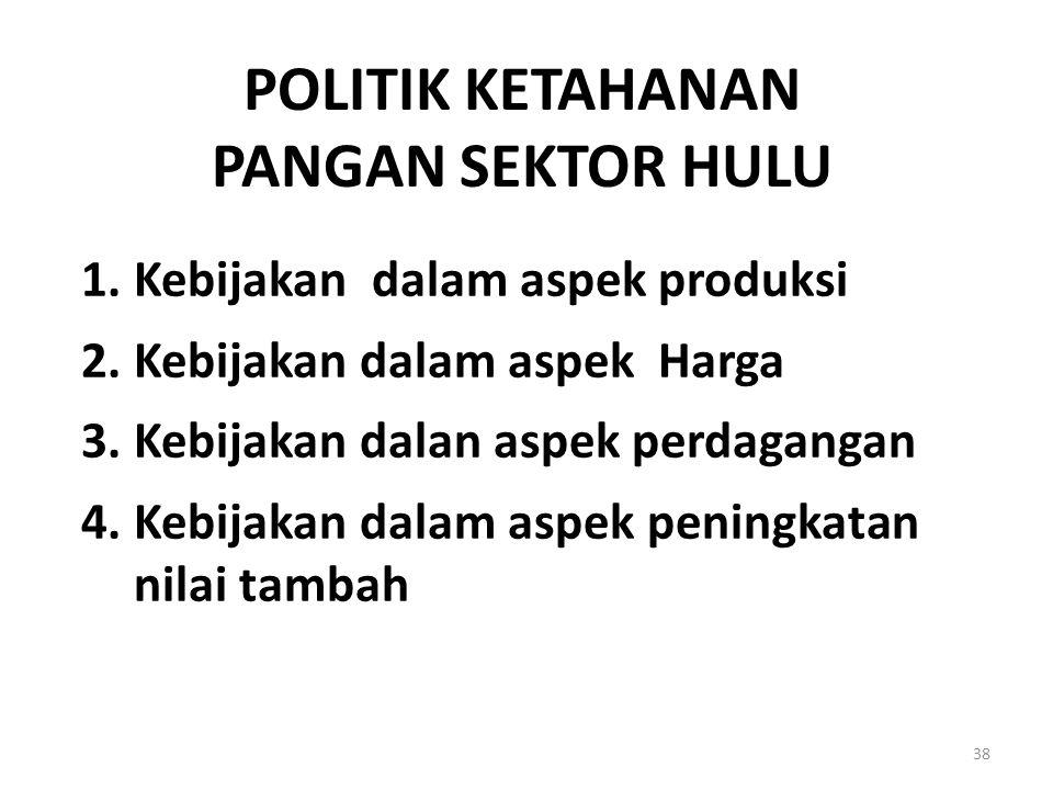 POLITIK KETAHANAN PANGAN SEKTOR HULU