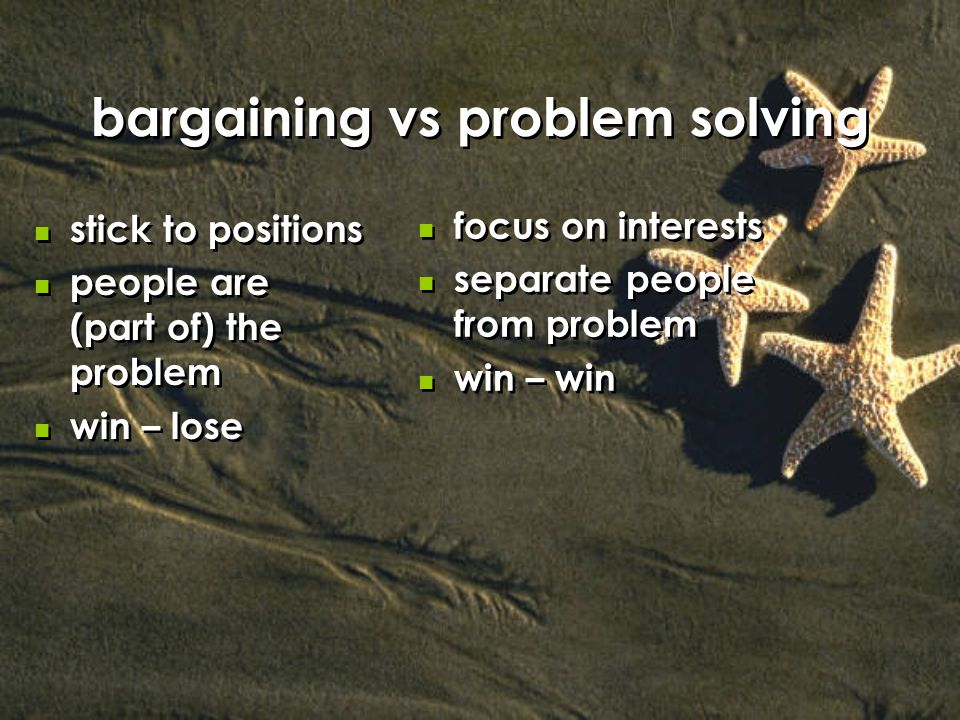 bargaining vs problem solving