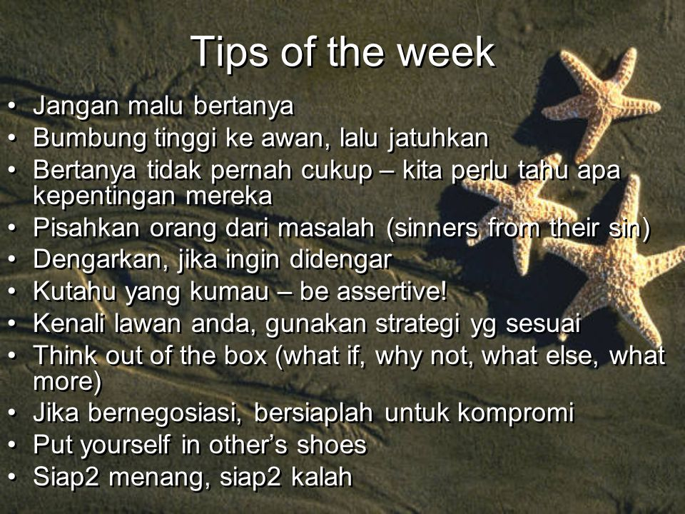 Tips of the week Jangan malu bertanya
