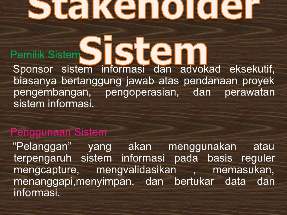 Stakeholder Sistem