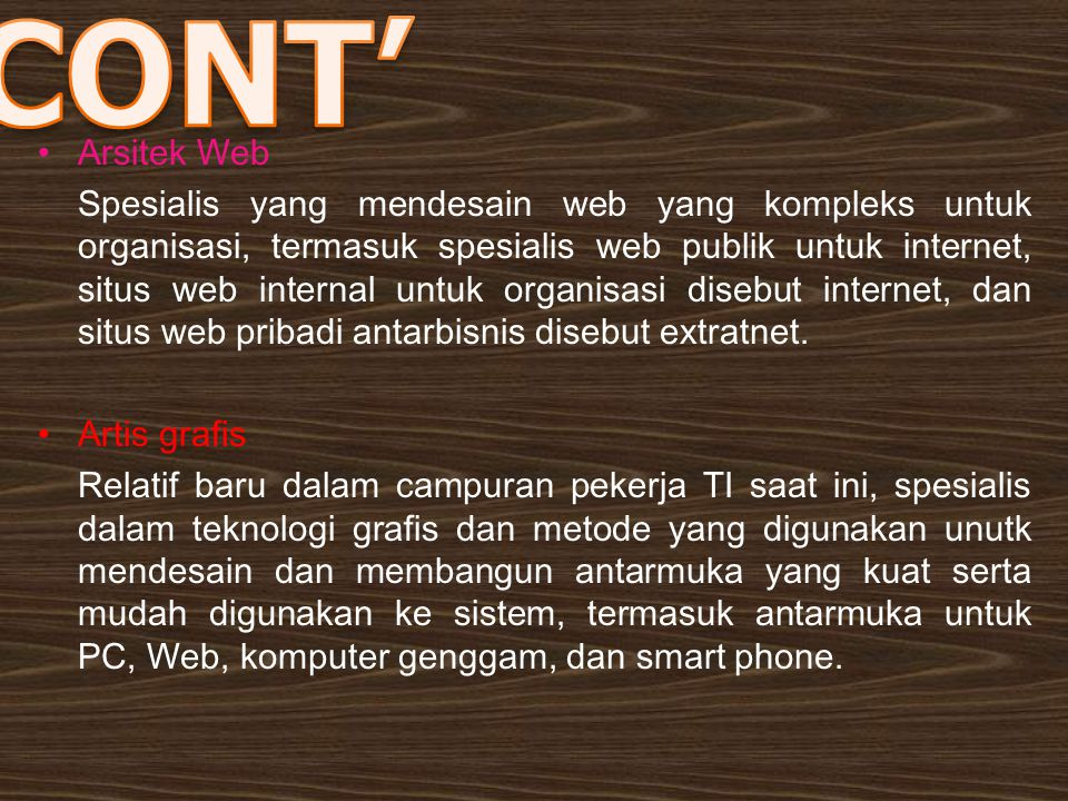 CONT' Arsitek Web.