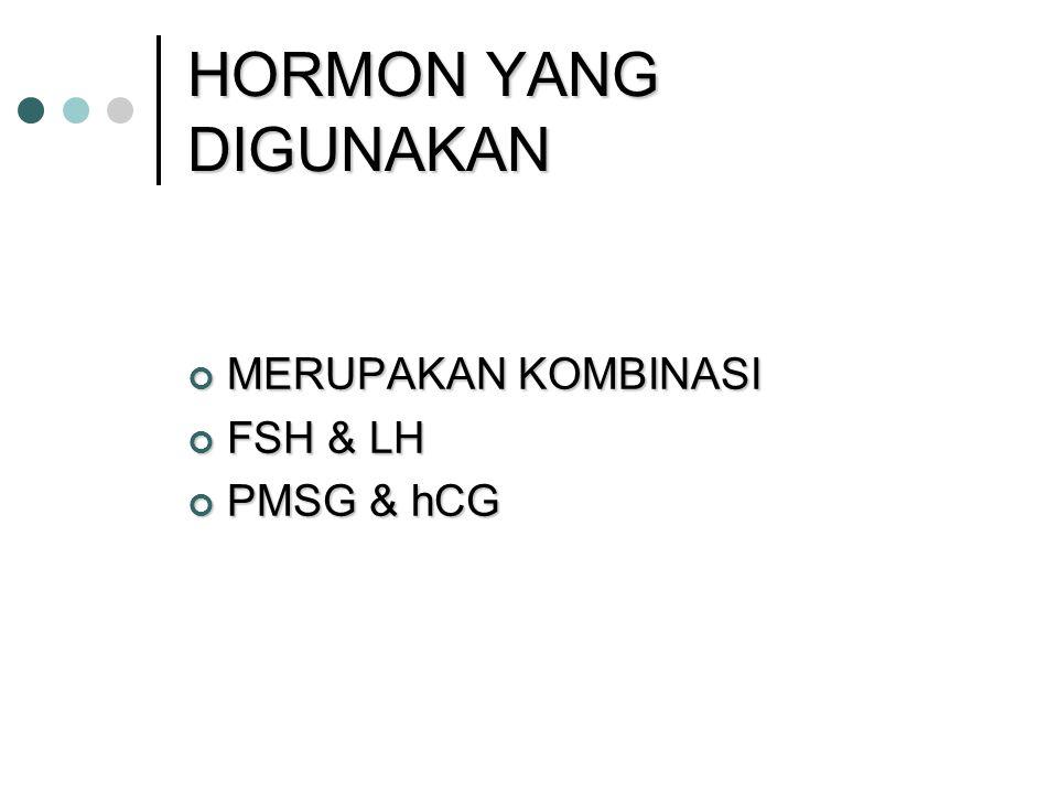 HORMON YANG DIGUNAKAN MERUPAKAN KOMBINASI FSH & LH PMSG & hCG 31