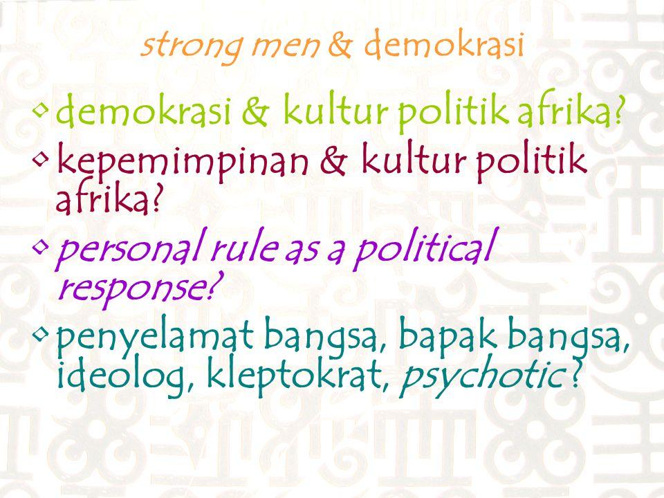 demokrasi & kultur politik afrika