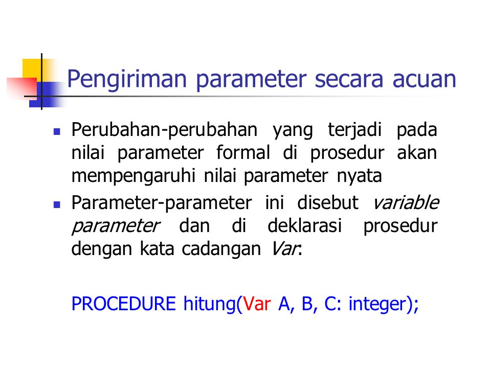 Pengiriman parameter secara acuan