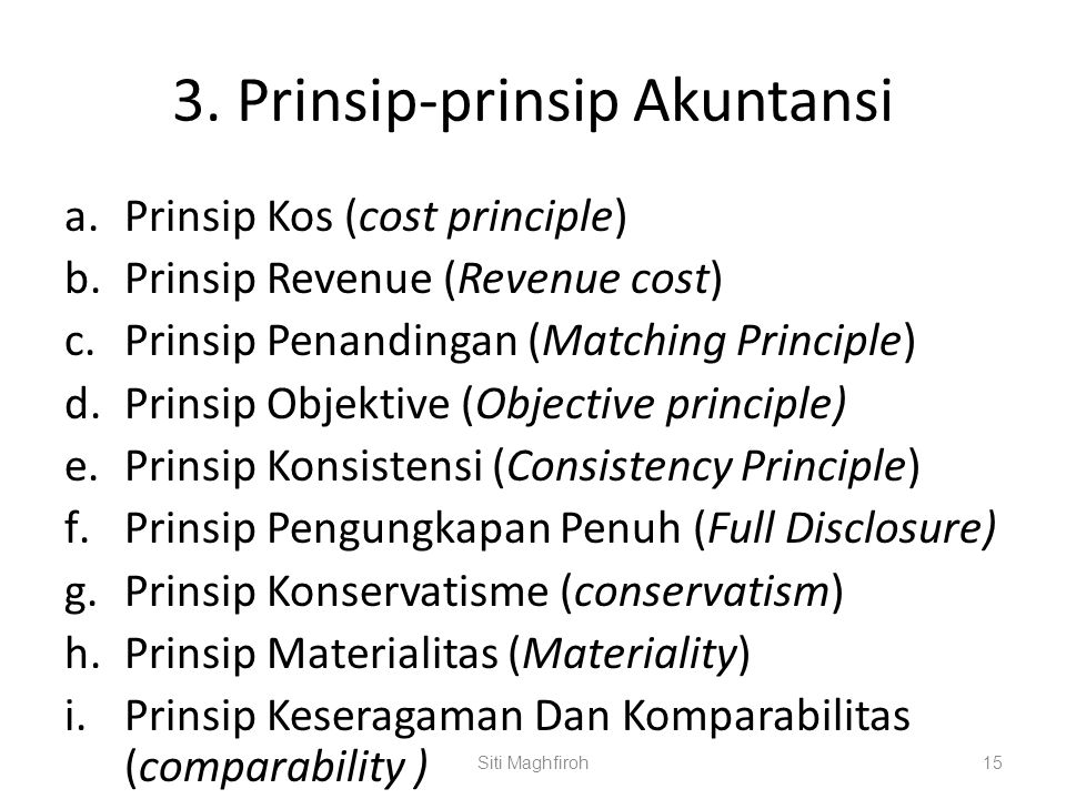 3. Prinsip-prinsip Akuntansi