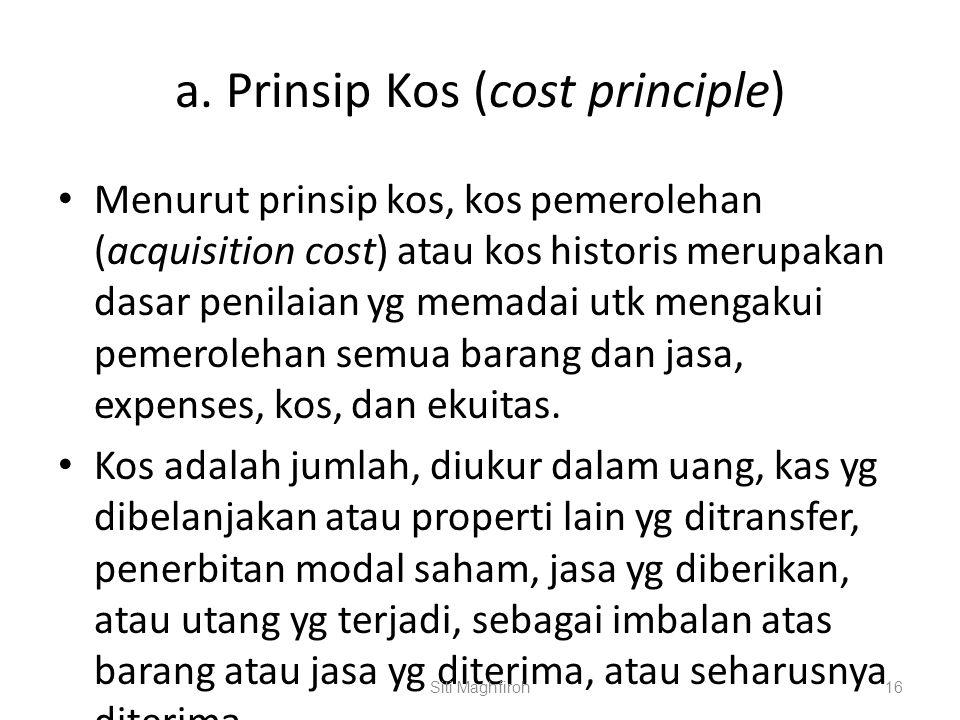 a. Prinsip Kos (cost principle)
