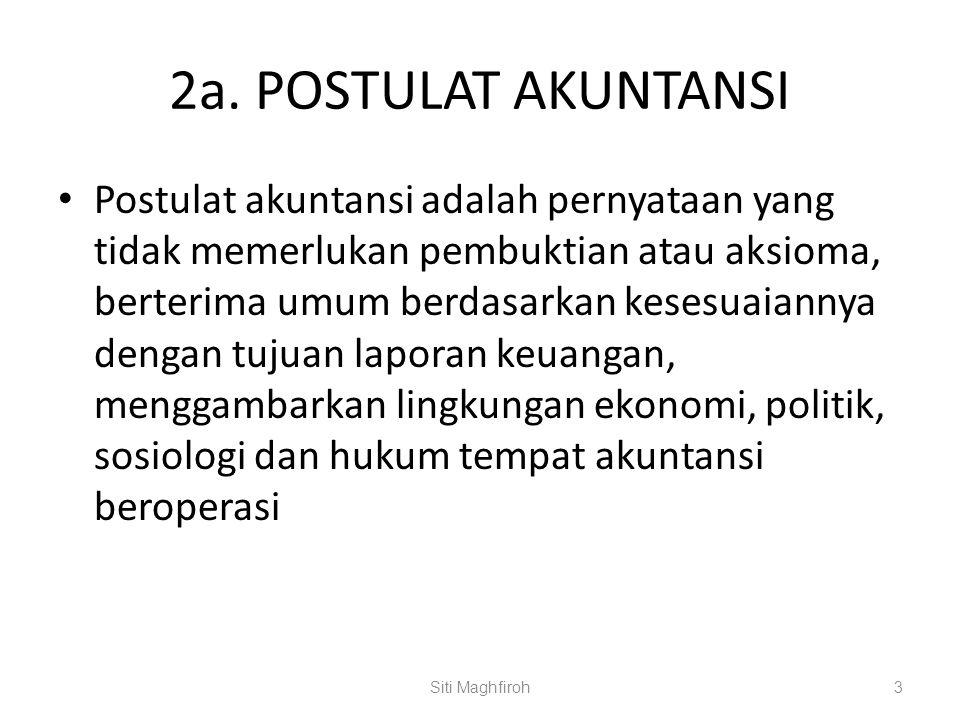 2a. POSTULAT AKUNTANSI
