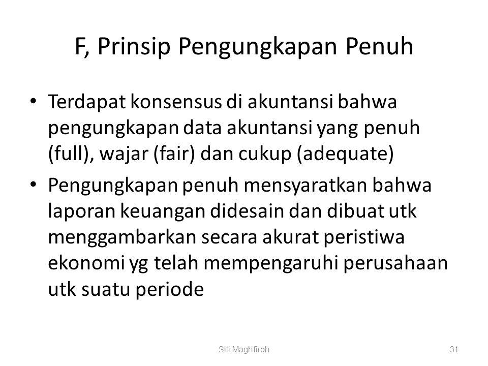 F, Prinsip Pengungkapan Penuh