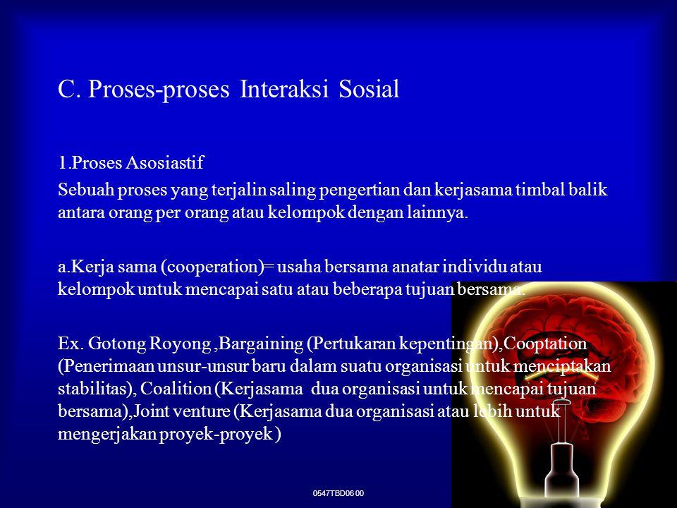 C. Proses-proses Interaksi Sosial