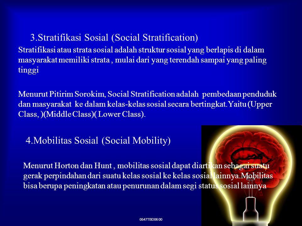 3.Stratifikasi Sosial (Social Stratification)