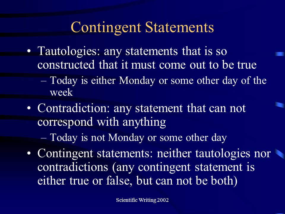 Contingent Statements