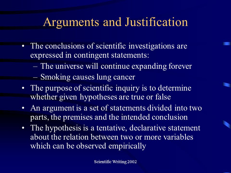 Arguments and Justification
