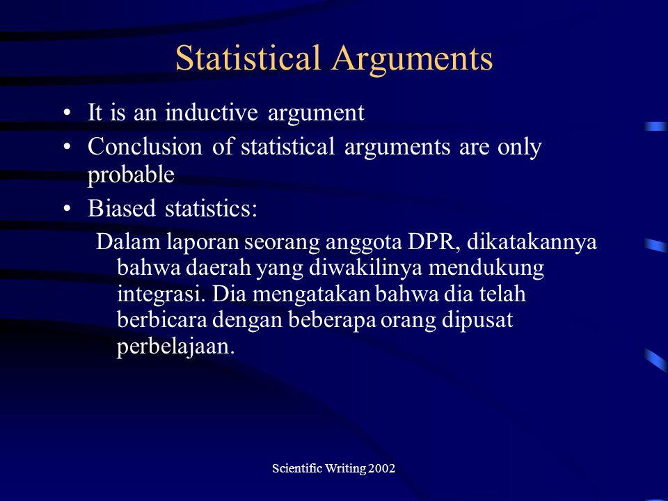 Statistical Arguments
