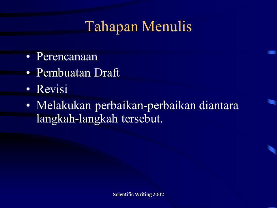 Tahapan Menulis Perencanaan Pembuatan Draft Revisi