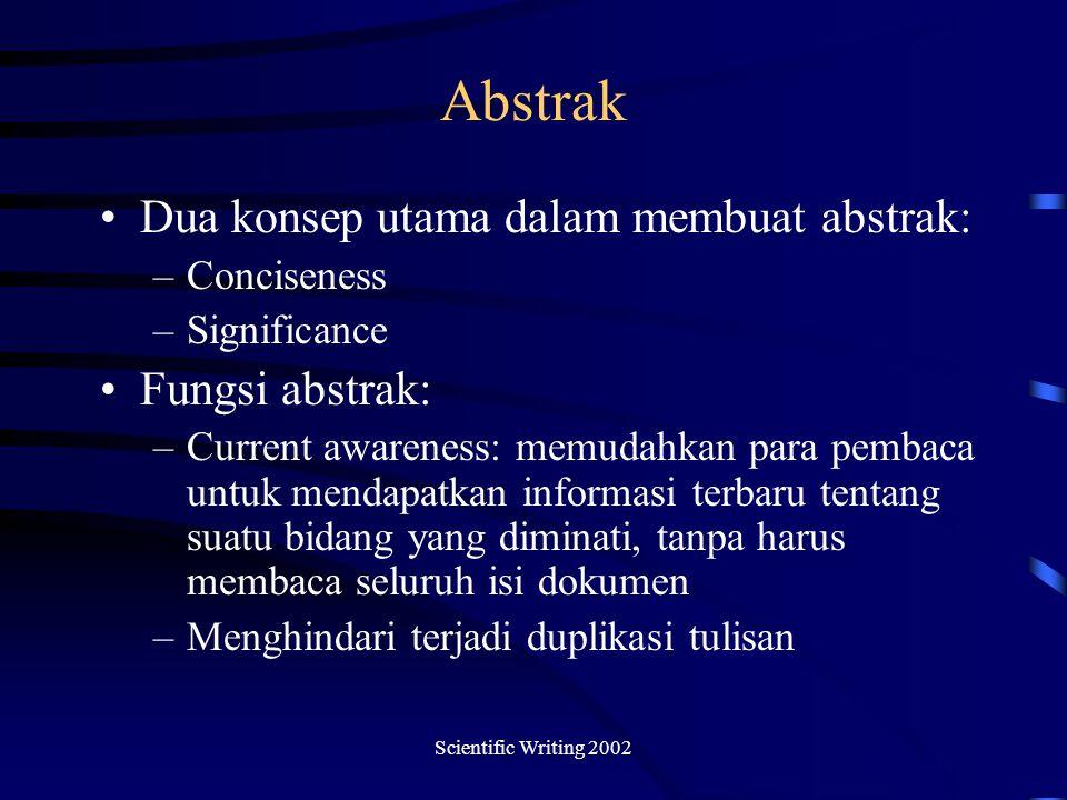Abstrak Dua konsep utama dalam membuat abstrak: Fungsi abstrak: