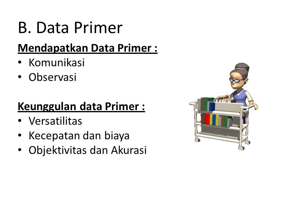B. Data Primer Mendapatkan Data Primer : Komunikasi Observasi