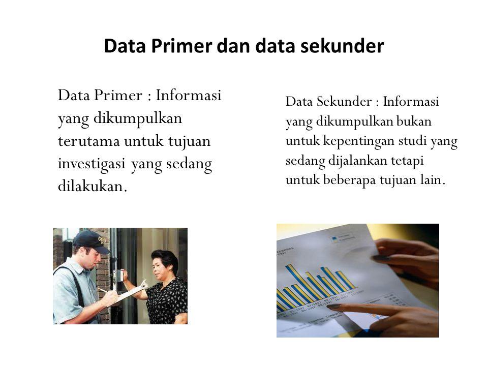 Data Primer dan data sekunder