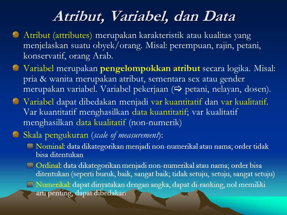 Atribut, Variabel, dan Data