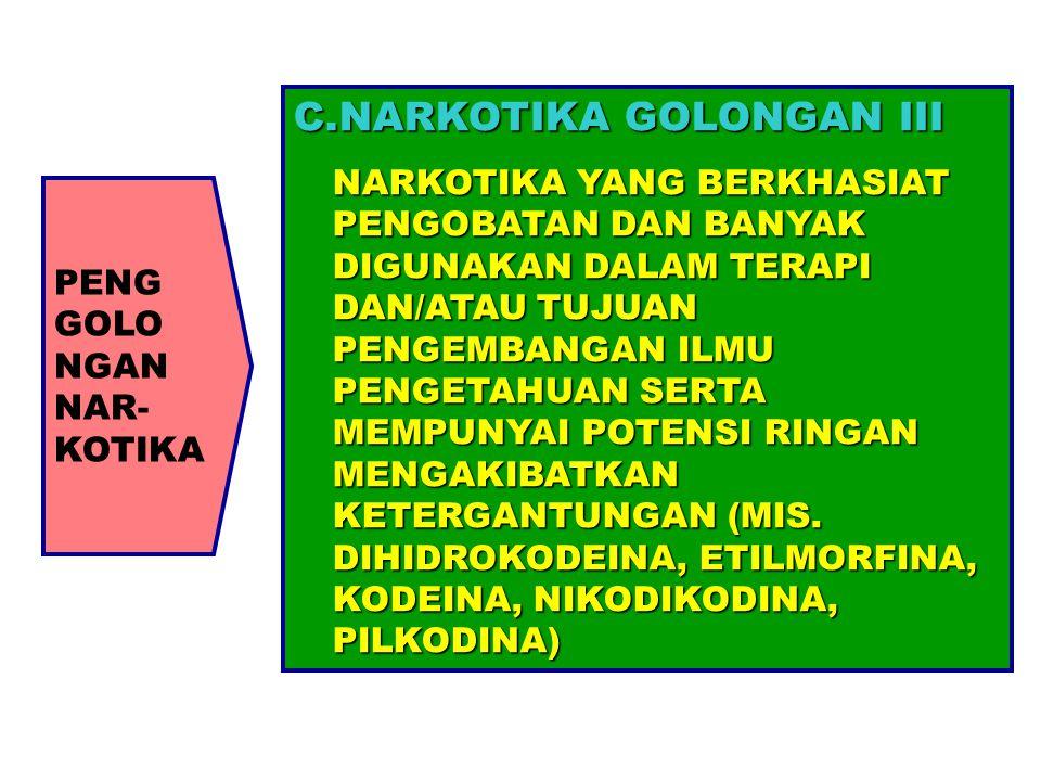 NARKOTIKA GOLONGAN III