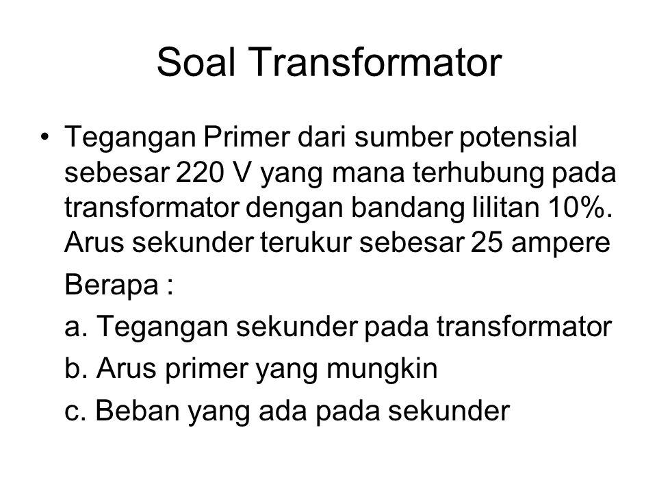 Soal Transformator