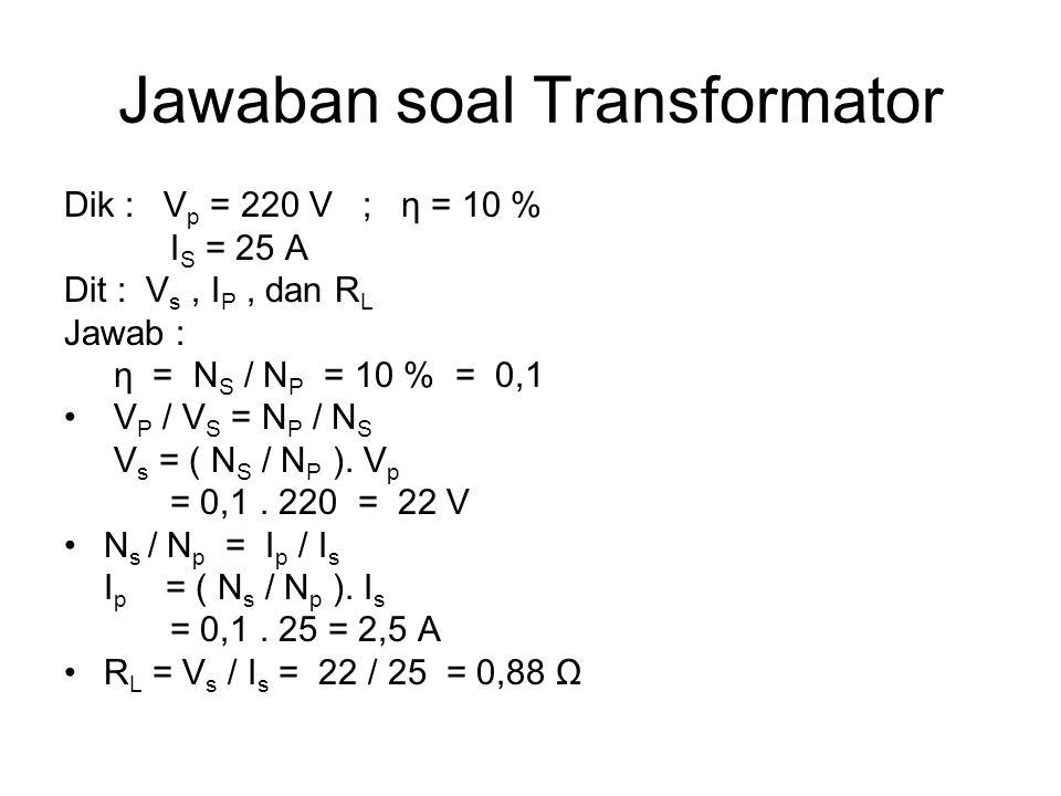 Jawaban soal Transformator