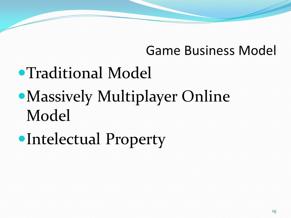 Massively Multiplayer Online Model Intelectual Property