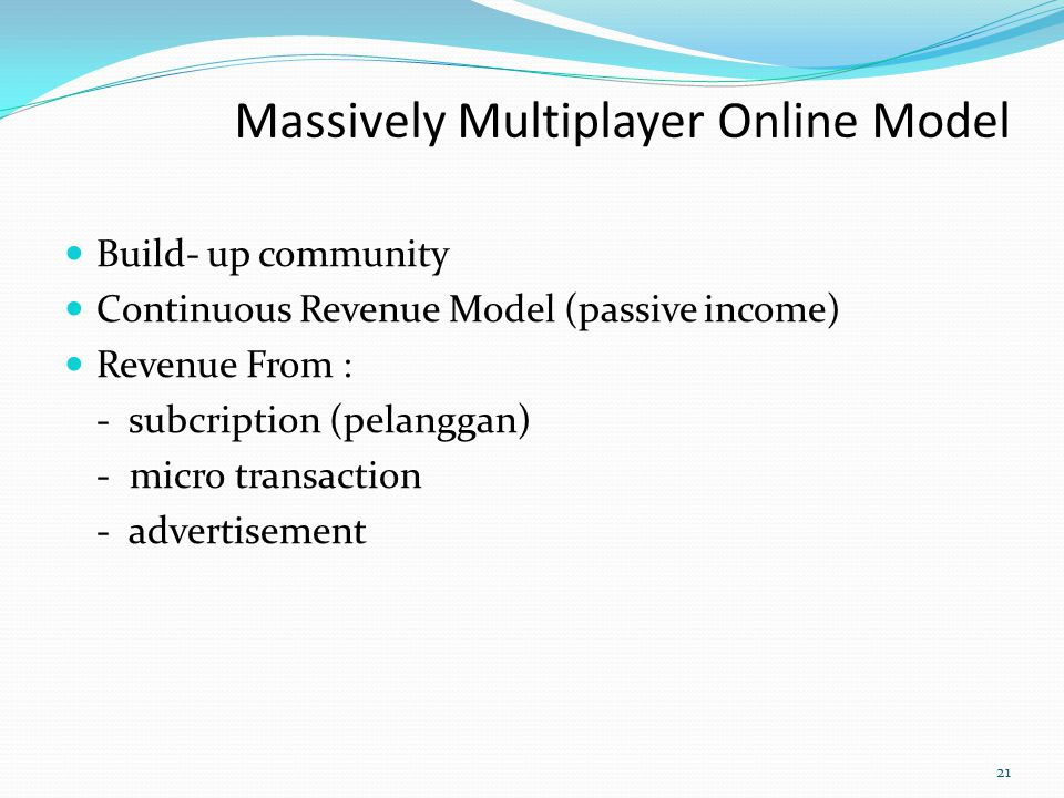 Massively Multiplayer Online Model
