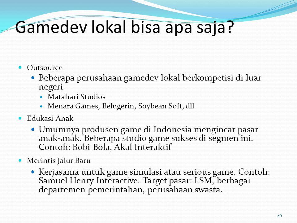 Gamedev lokal bisa apa saja