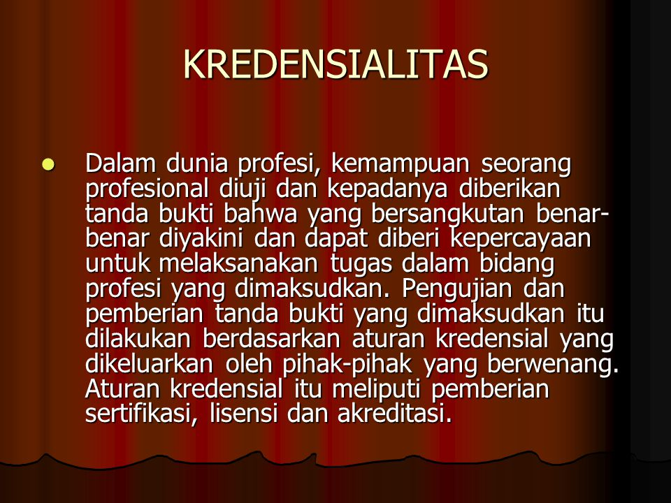 KREDENSIALITAS