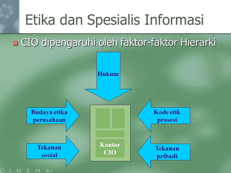 Etika dan Spesialis Informasi