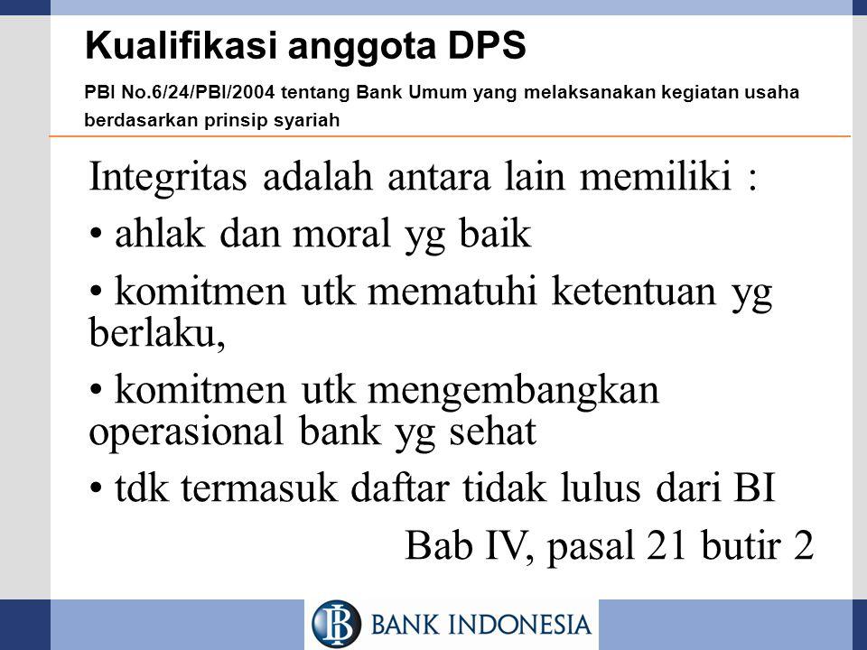 Integritas adalah antara lain memiliki : ahlak dan moral yg baik
