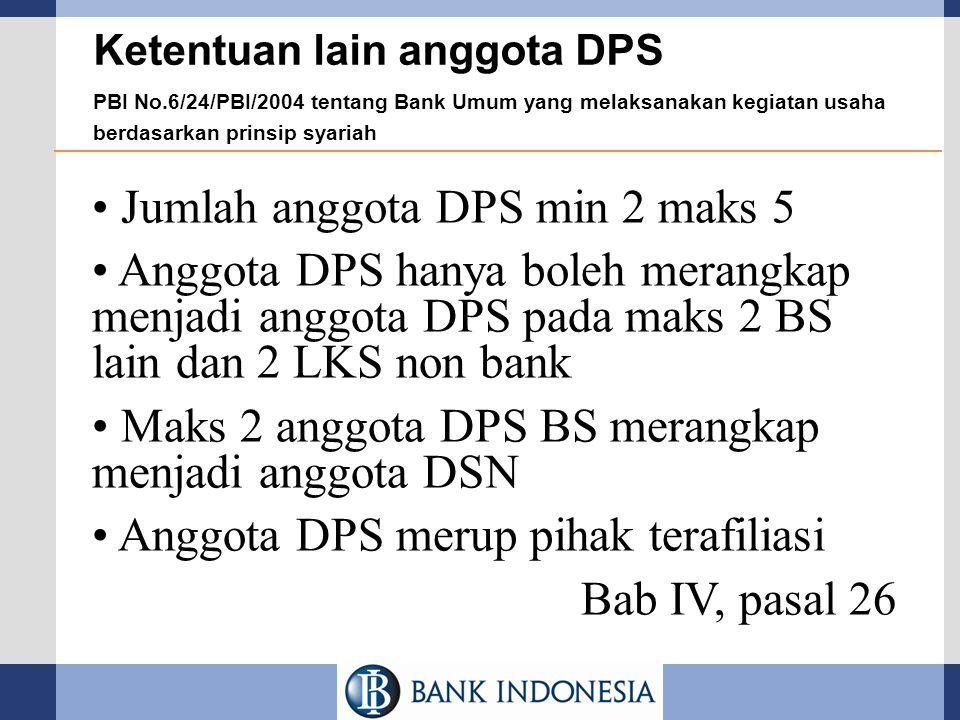 Jumlah anggota DPS min 2 maks 5